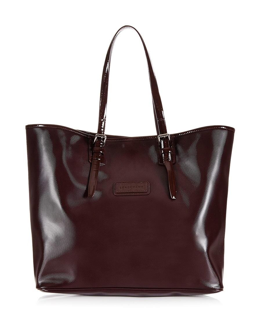 longchamp derby bordeaux leather trim tote designer bags sale longchamp handbags secretsales. Black Bedroom Furniture Sets. Home Design Ideas