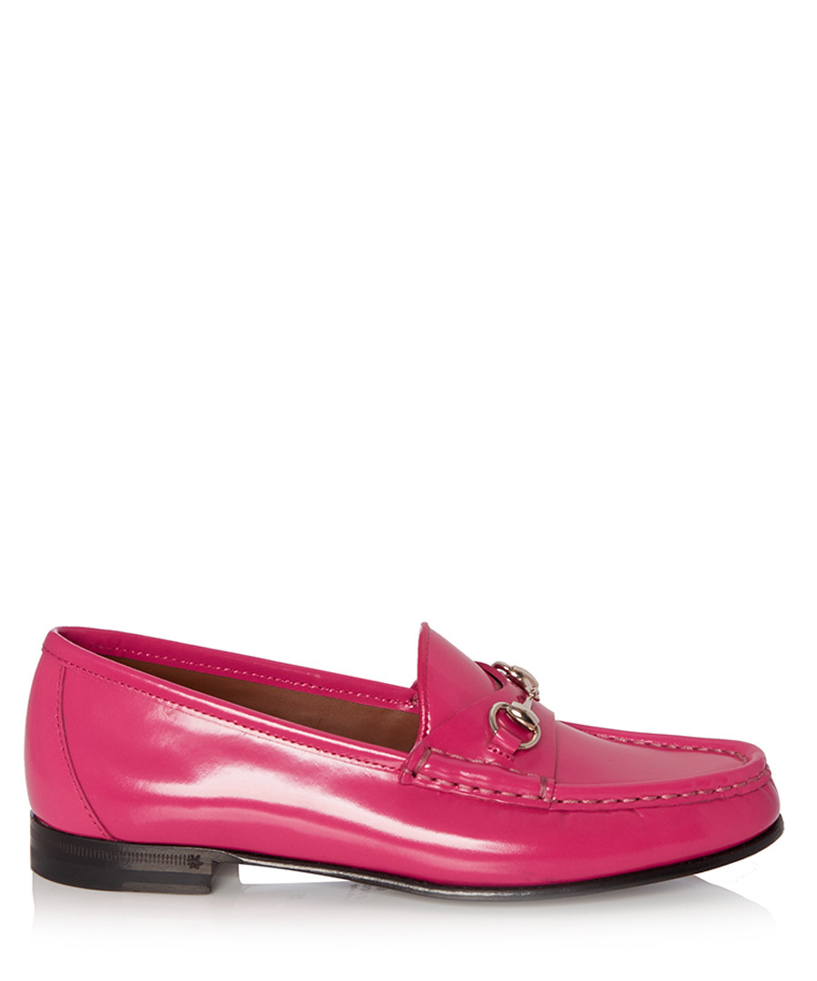 Gucci Wome's pink leather horsebit loafers, Designer ...