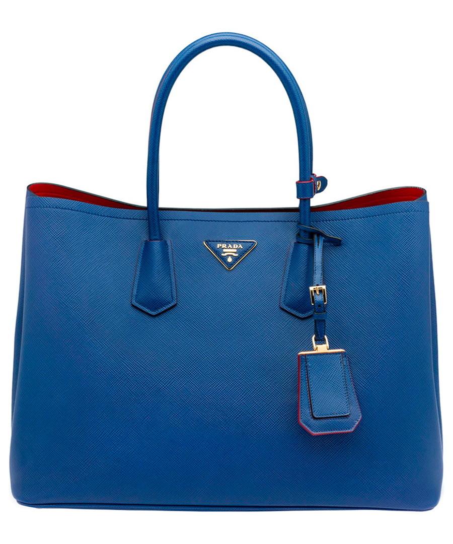 Cornflower blue saffiano leather tote Sale - Prada