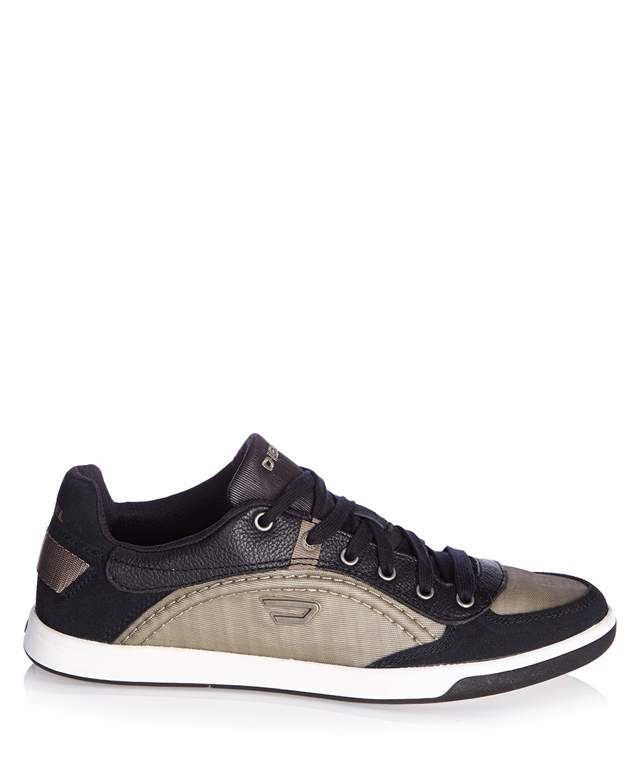 Diesel Men's Starch leather trim sneakers, Designer ...