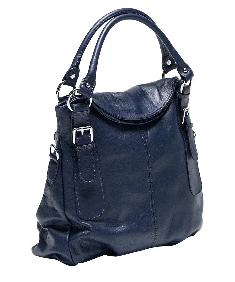 Blue leather slouch bag Sale - Mangotti Sale