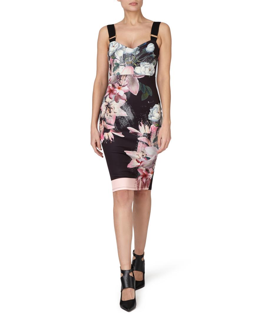 Lipsy multi coloured floral pencil dress designer dresses sale lipsy