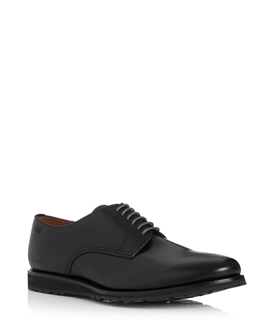 hugo boss casano black leather lace ups designer footwear sale hugo boss shoes secretsales. Black Bedroom Furniture Sets. Home Design Ideas