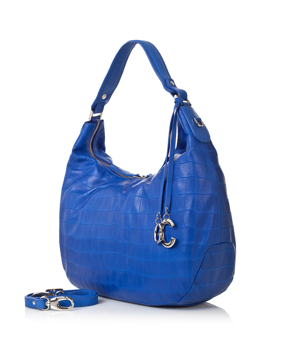 Blue croc-effect leather slouch bag Sale - GIANNI CONTI Sale