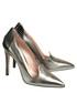 Silver-tone leather loafer high heels Sale - DE SIENA Sale