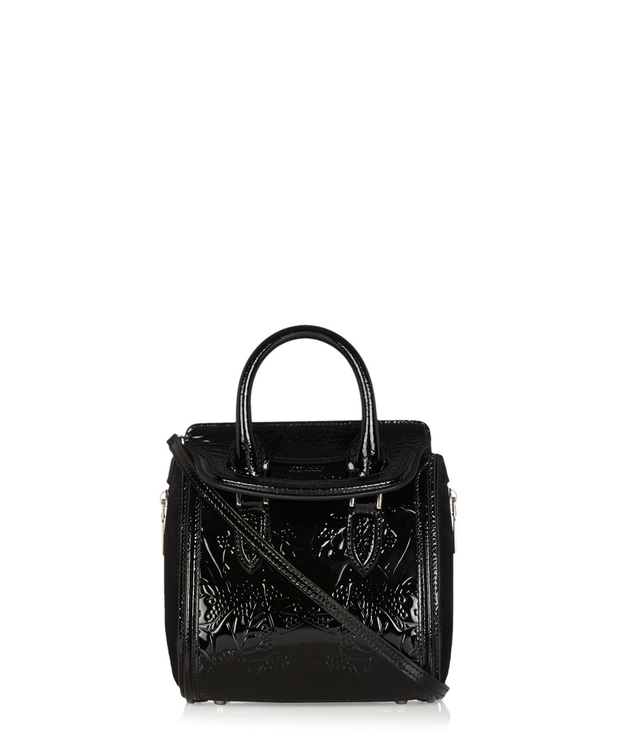 alexander mcqueen heroine patent leather small grab bag designer bags sale alexander mcqueen. Black Bedroom Furniture Sets. Home Design Ideas