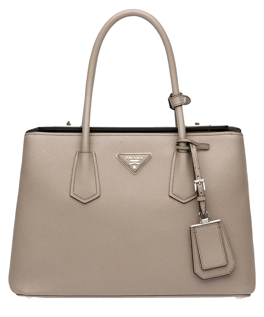 Argilla caramel saffiano leather tote Sale - Prada