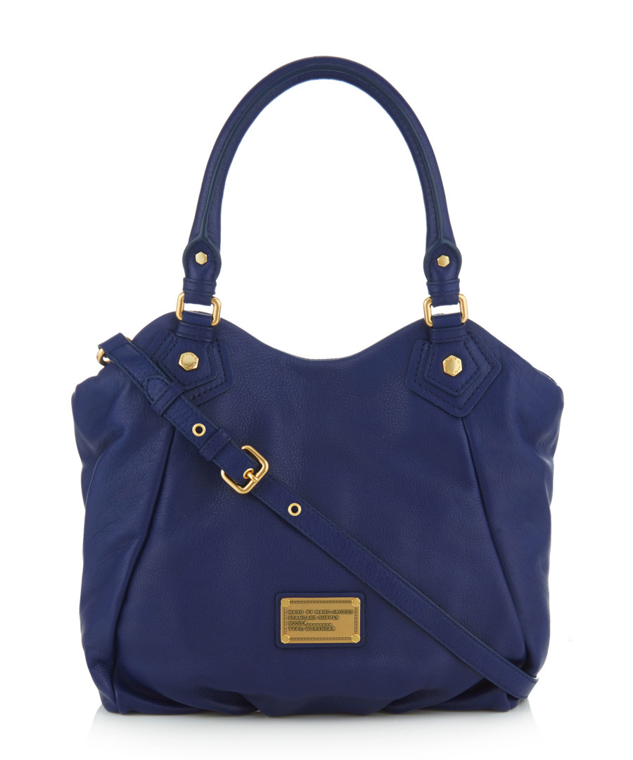 Fran blue leather shoulder bag Sale - Marc by Marc Jacobs