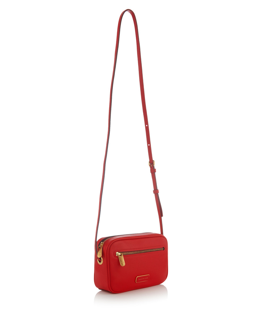 Marc Jacobs Sally Väska : Marc by jacobs sally red leather cross body bag