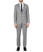2pc light grey pure wool suit