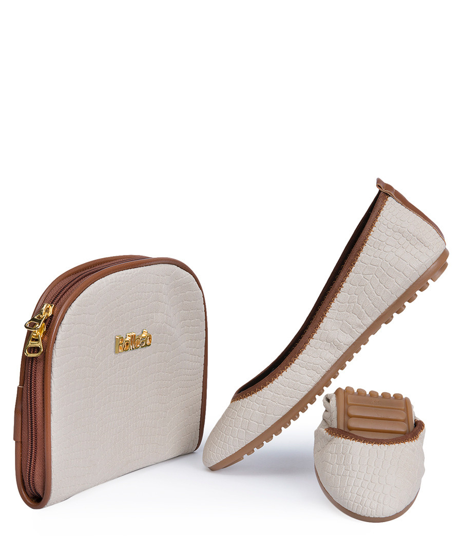 Authentic Sue London Foldable Ballet Flats. Beautiful Cocoa Dust Brown Color. If you love the popular foldable ballet flats out there, you will love these!