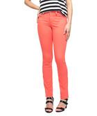 Papaya cotton blend skinny jeans