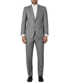 2pc grey pure wool pindot weave suit