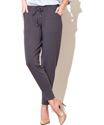 Grey elasticated waist trousers