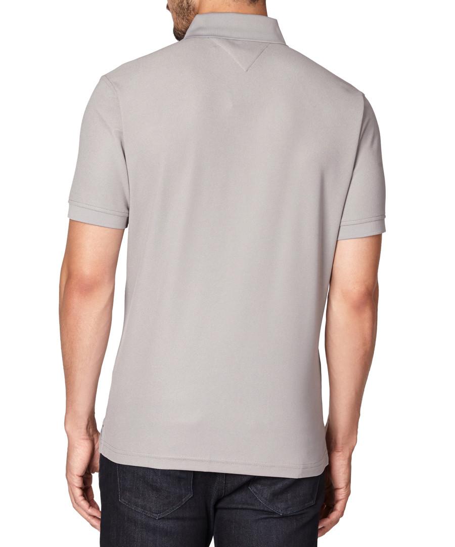 tommy hilfiger golf grey short sleeved polo shirts. Black Bedroom Furniture Sets. Home Design Ideas