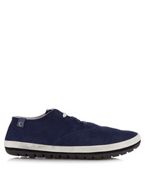 Men's Leegos Grubly blue suede sneakers
