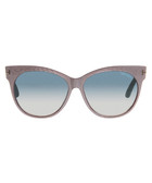 Saskia grey & purple cat eye sunglasses