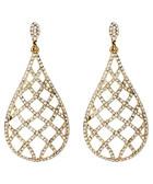 Rosaline gold-tone crystal earrings