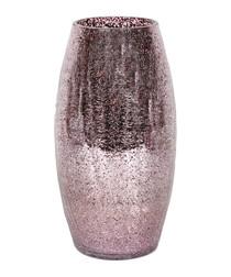 Mauve crackle vase 30cm