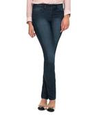 Dark blue cotton blend skinny jeans