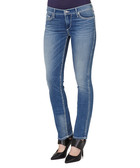 Cora light blue cotton straight jeans
