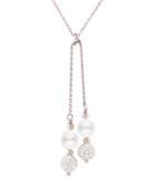 0.7cm white pearl pendant necklace