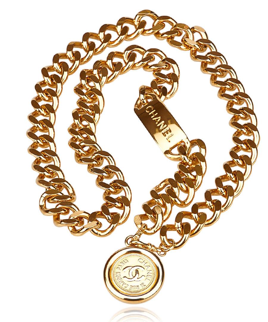 Medallion chain gold-tone belt  Sale - Vintage Chanel