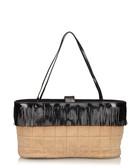 Suede chocolate bar fringe leather bag