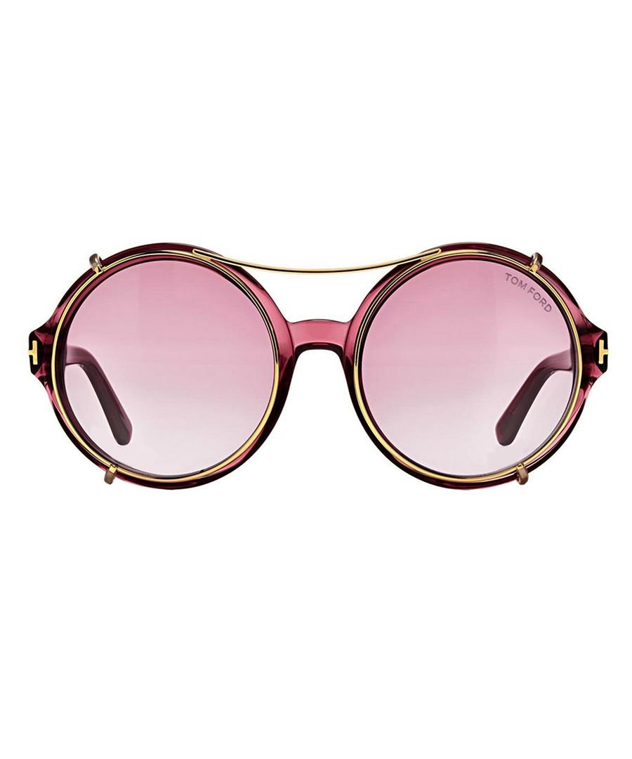 Juliet Bordeaux oversized sunglasses Sale - Tom Ford