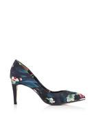 Women's Charmesa navy court shoes