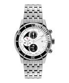Urano silver-tone & diamond watch