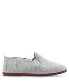 Women's Arnedo grey slip-on plimsolls