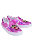 Pink patent leather sneakers