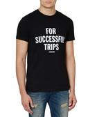 Black 'Success' pure cotton T-shirt