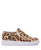 Leopardy leather slip-on sneakers