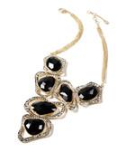Harper black crystal necklace