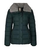 Green padded shearling puffer jacket