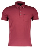 Red cotton blend polo shirt