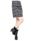Green & navy tartan skirt