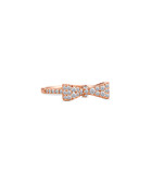Bow rose gold-plated bow ring