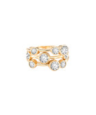 Cluster 14ct gold-plated ring