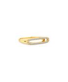 Illuminate 14ct gold-plated ring