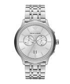 Silver-tone steel watch