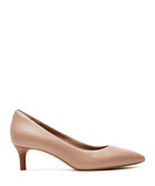 Kalila taupe leather kitten heels