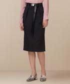 Croft black cotton blend pencil skirt
