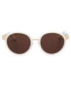 Gold & ivory round sunglasses