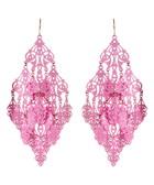Gabrielle pink chandelier earrings