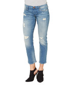 Liv blue cotton blend skinny jeans